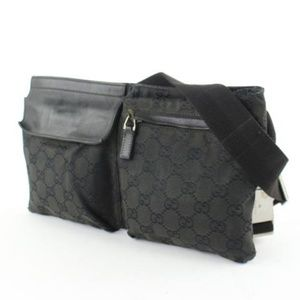 d8253f440ad20 Gucci Bags - Monogram GG Black Fanny Pack Waist Pouch 228719